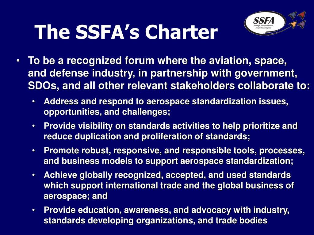 The SSFA's Charter