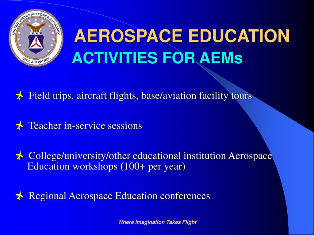 Field trips, aircraft flights, base/aviation facility tours