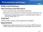 itu r and icao lead groups
