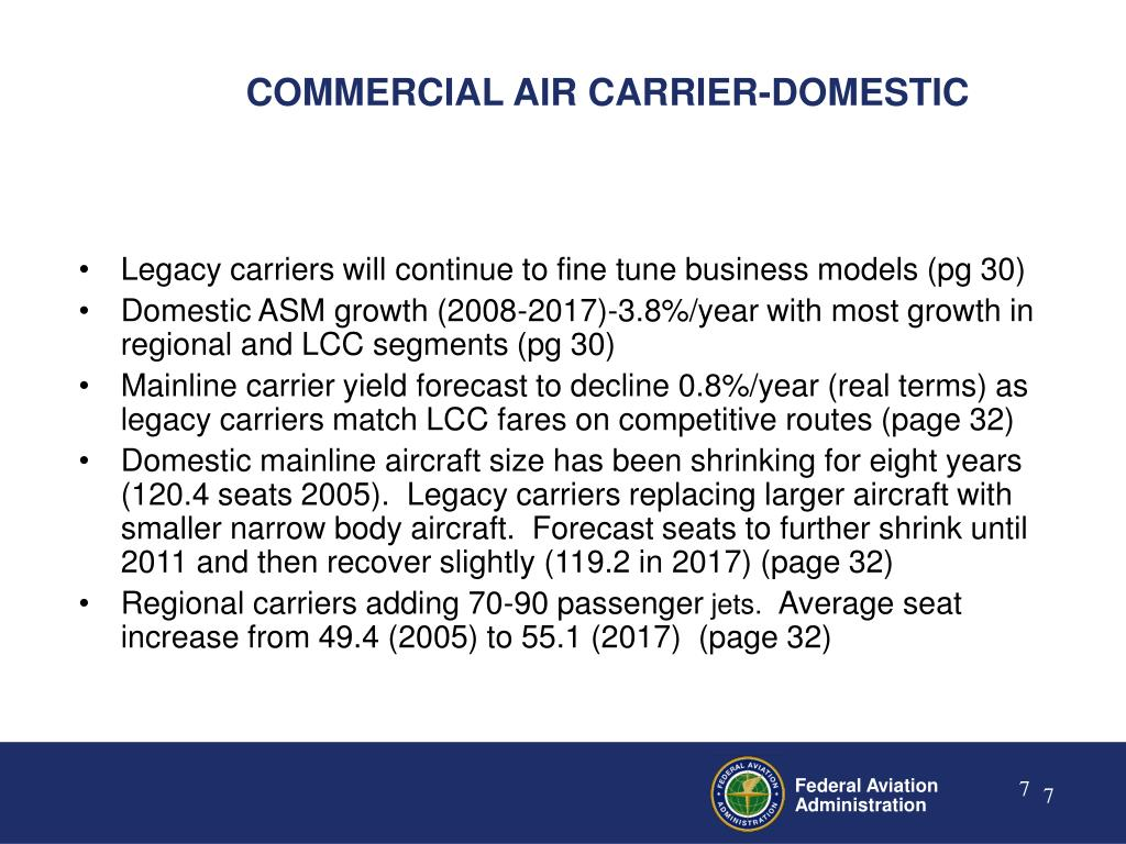 COMMERCIAL AIR CARRIER-DOMESTIC