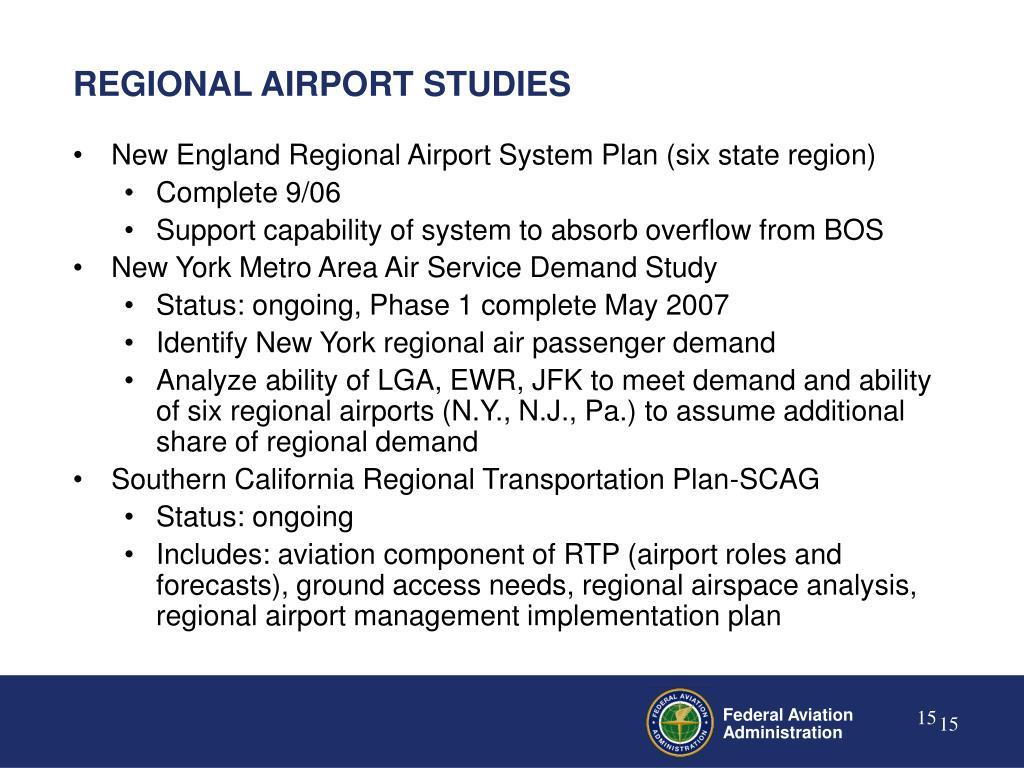 REGIONAL AIRPORT STUDIES