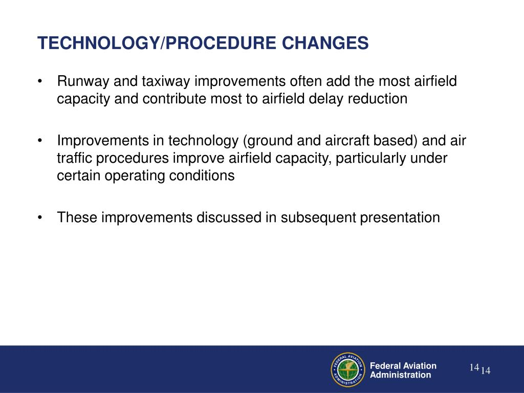 TECHNOLOGY/PROCEDURE CHANGES