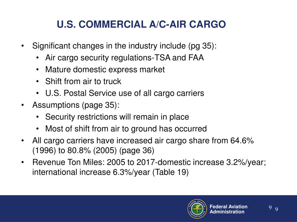 U.S. COMMERCIAL A/C-AIR CARGO