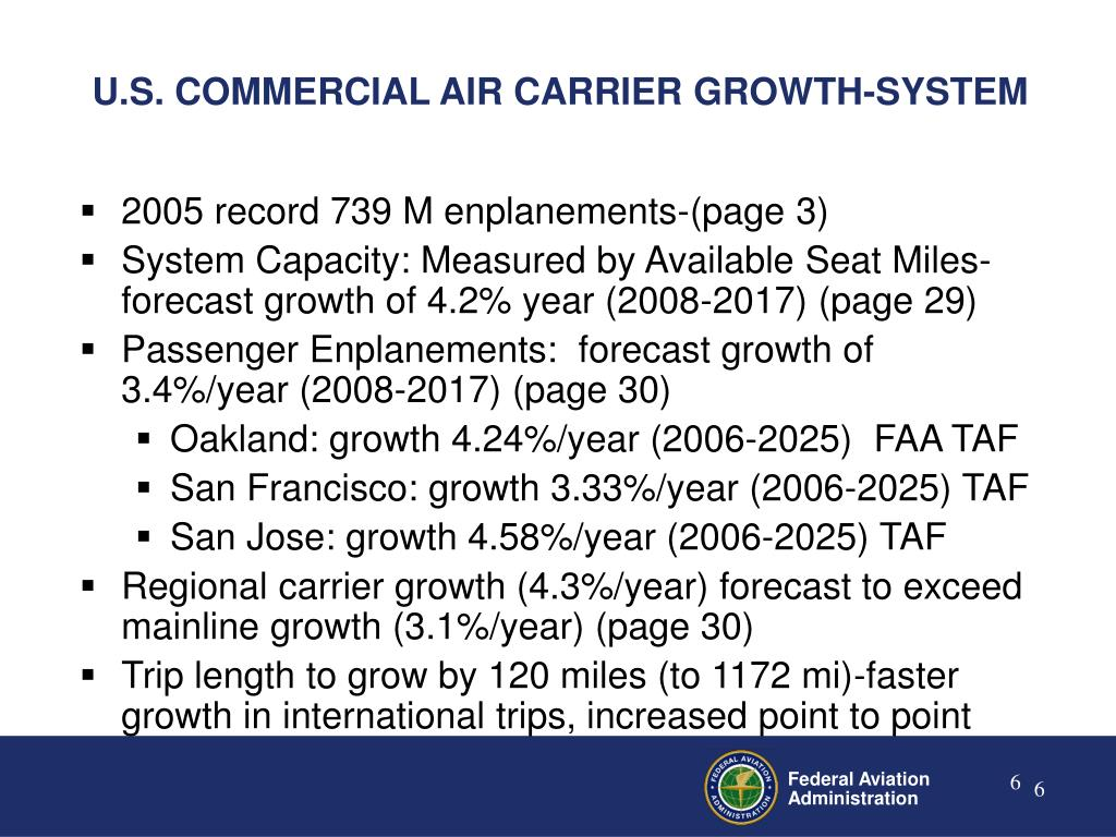 U.S. COMMERCIAL AIR CARRIER GROWTH-SYSTEM