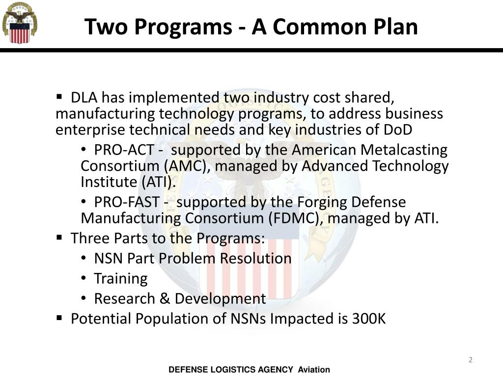 Two Programs - A Common Plan