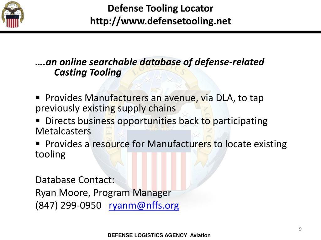 Defense Tooling Locator