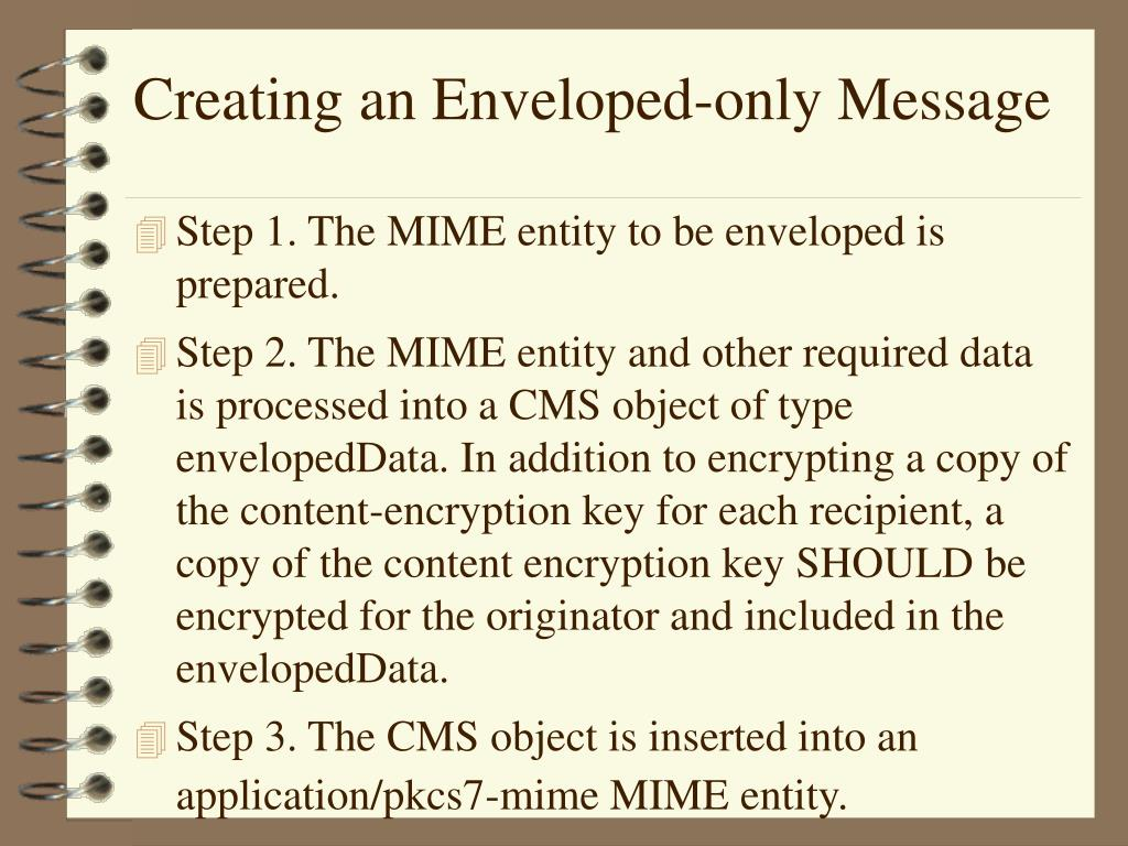 Creating an Enveloped-only Message