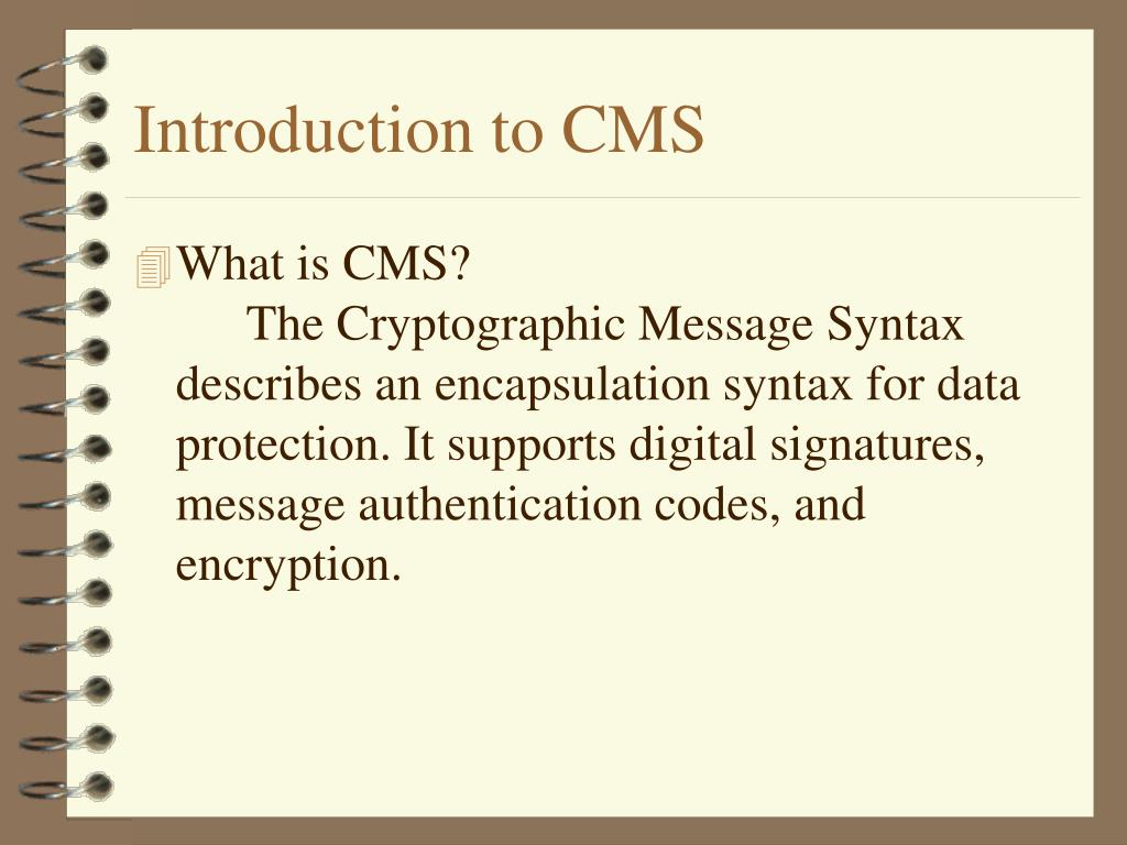 Introduction to CMS
