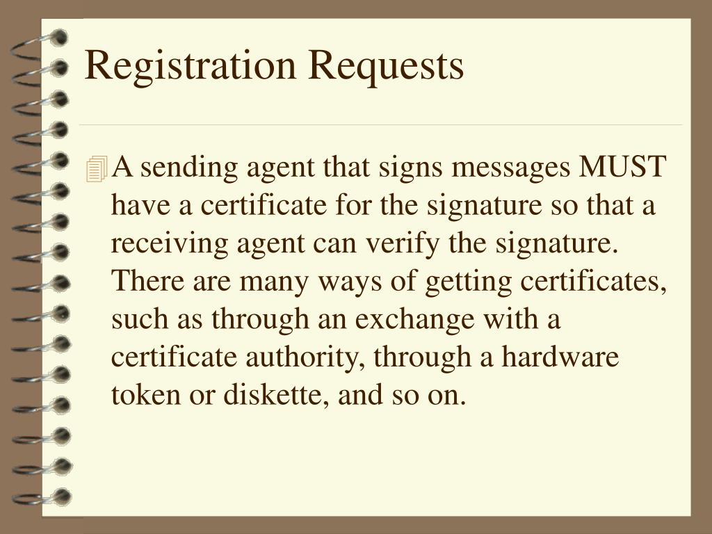 Registration Requests