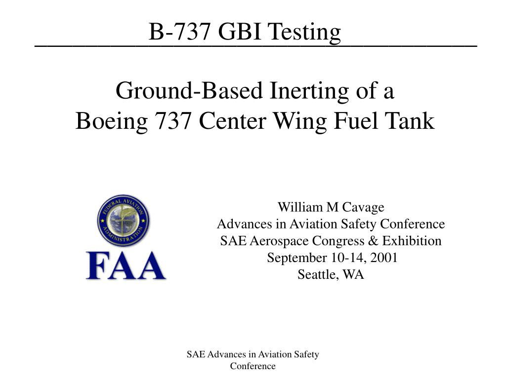 Ground-Based Inerting of a