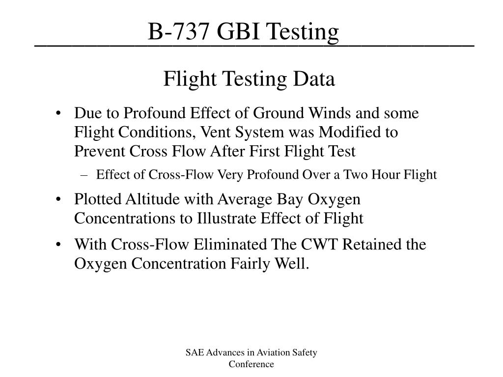 Flight Testing Data