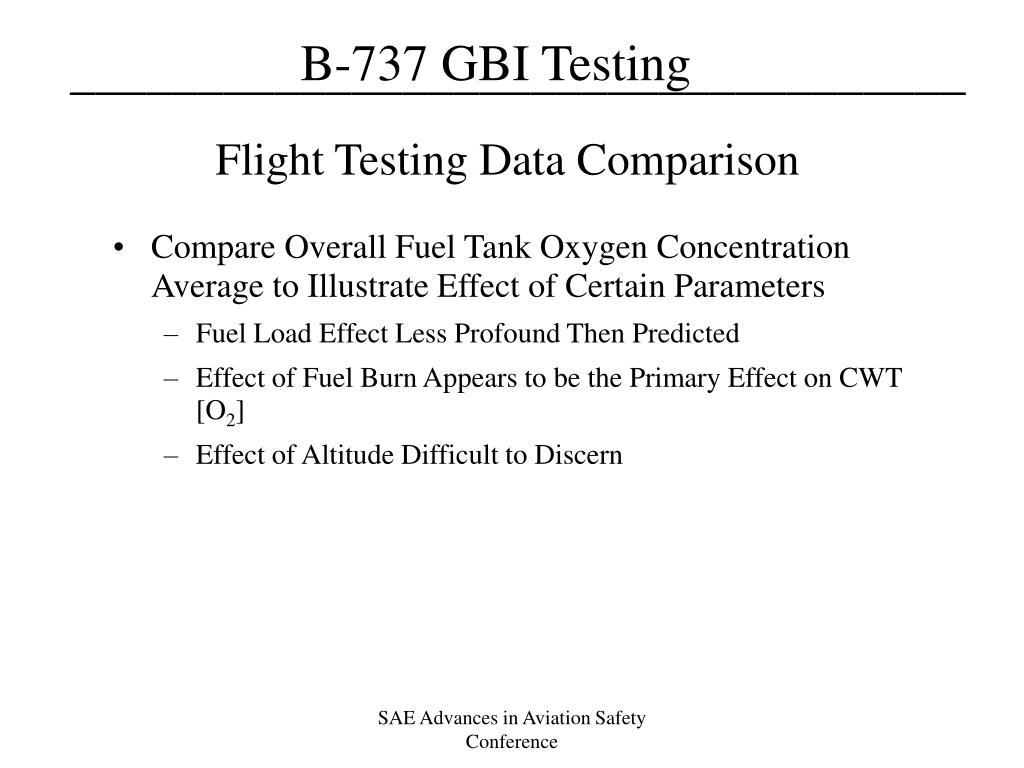 Flight Testing Data Comparison