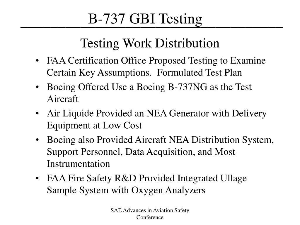 Testing Work Distribution