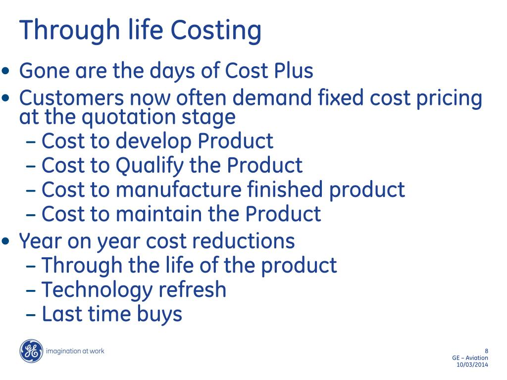 Through life Costing