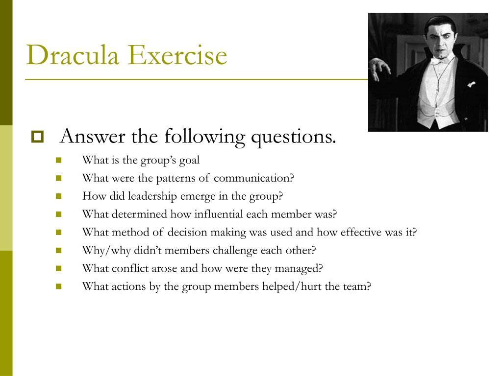 Dracula Exercise
