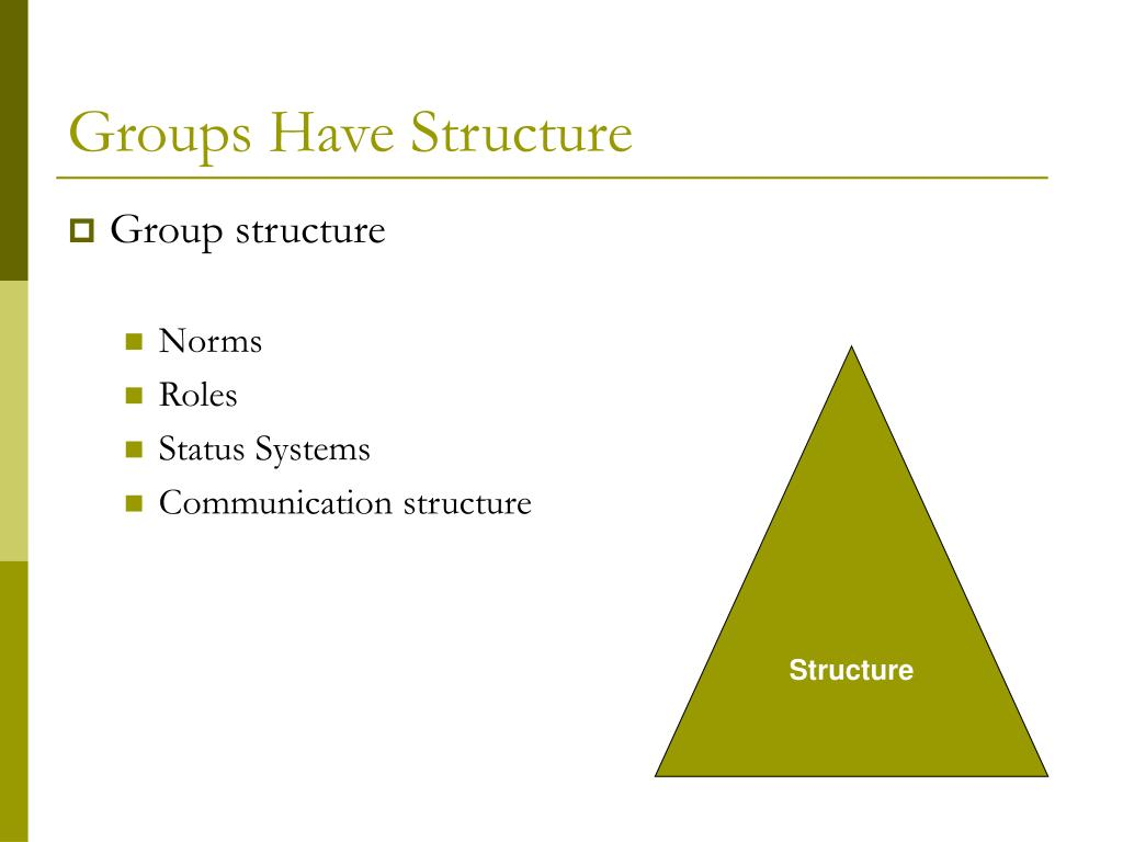 Groups Have Structure