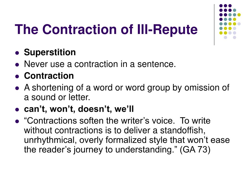 The Contraction of Ill-Repute