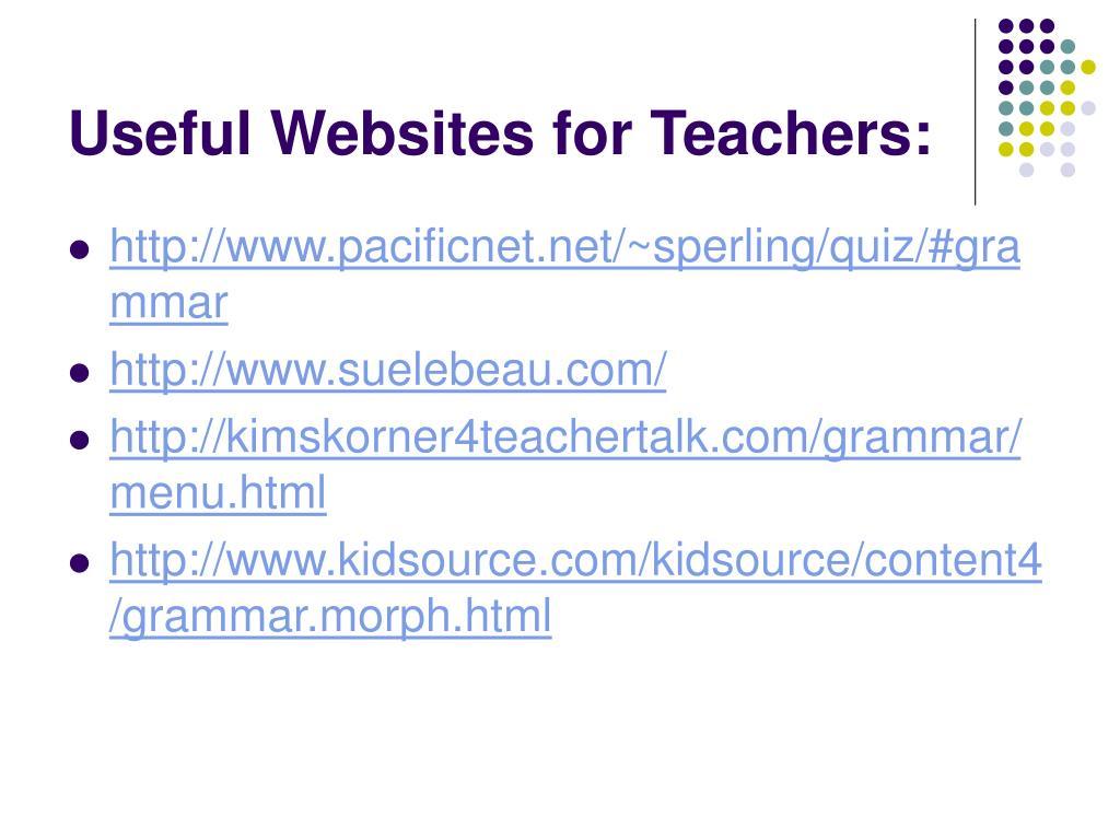 Useful Websites for Teachers: