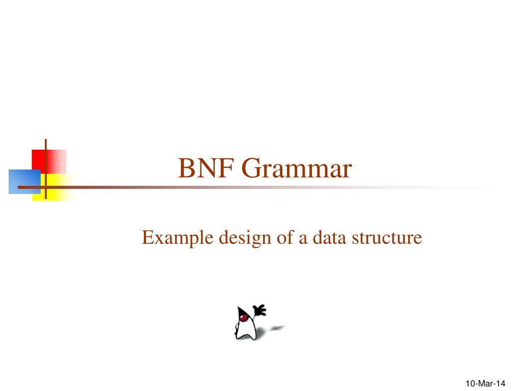BNF Grammar