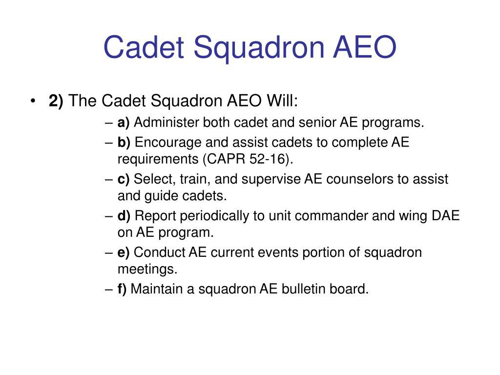 Cadet Squadron AEO
