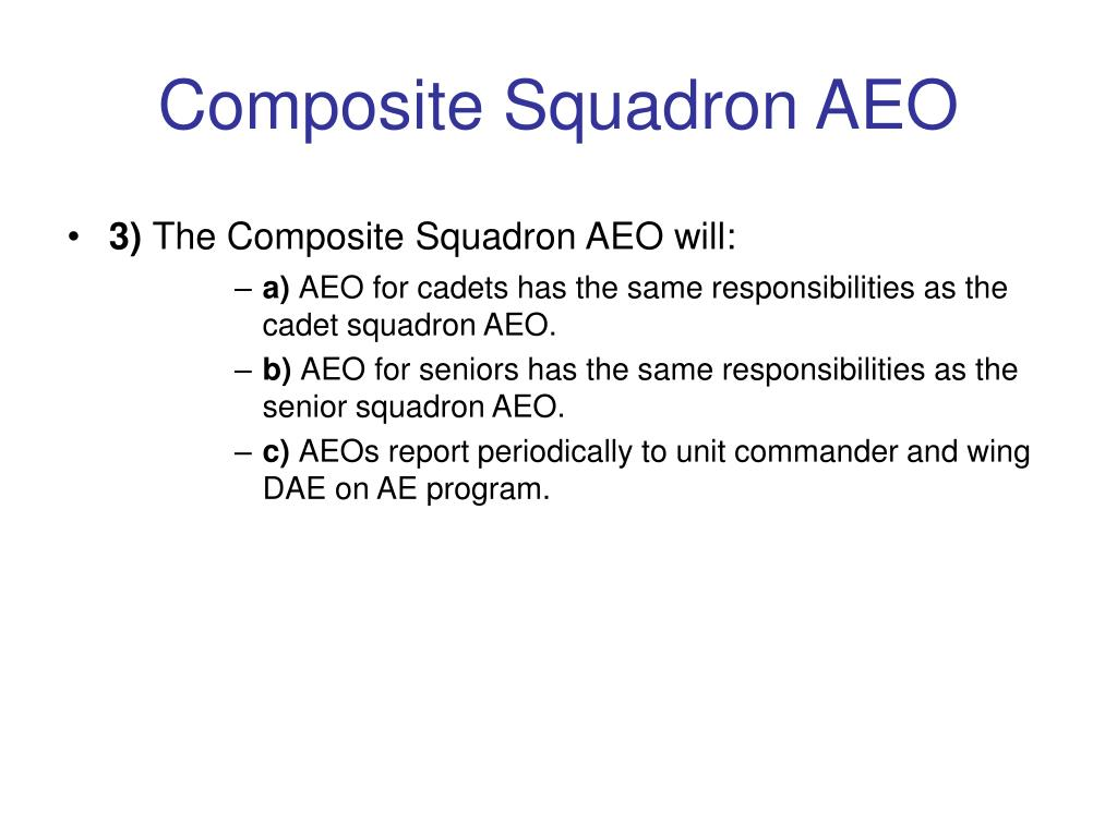 Composite Squadron AEO