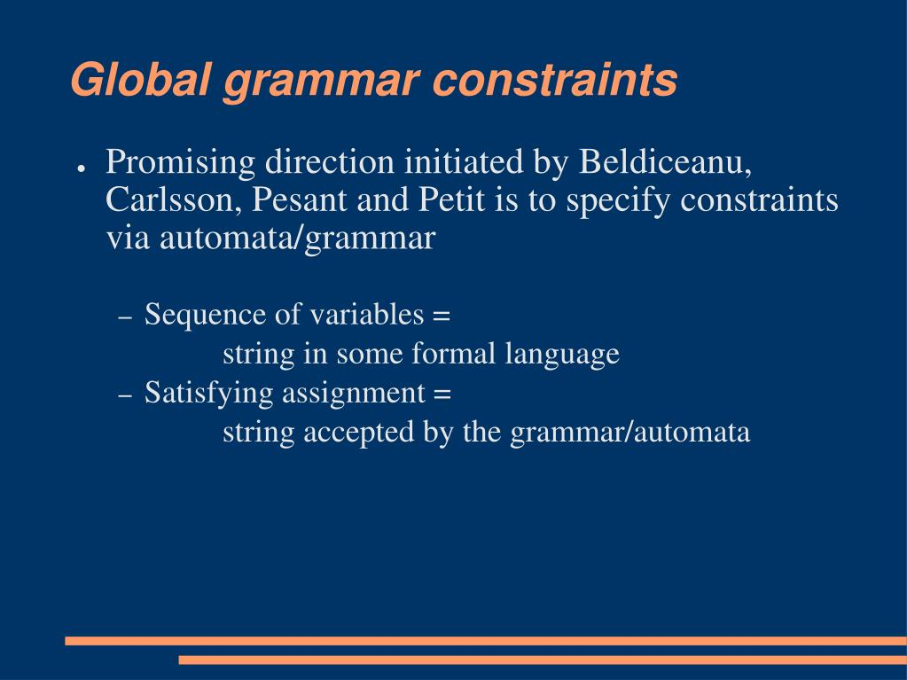 Global grammar constraints