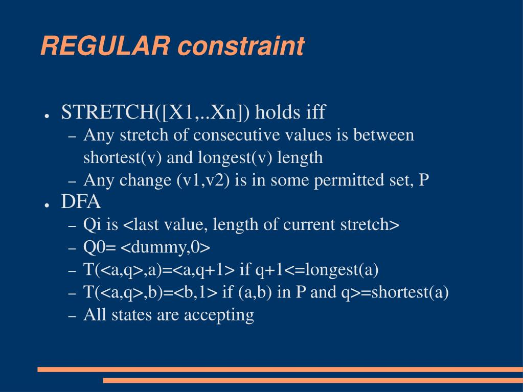 REGULAR constraint