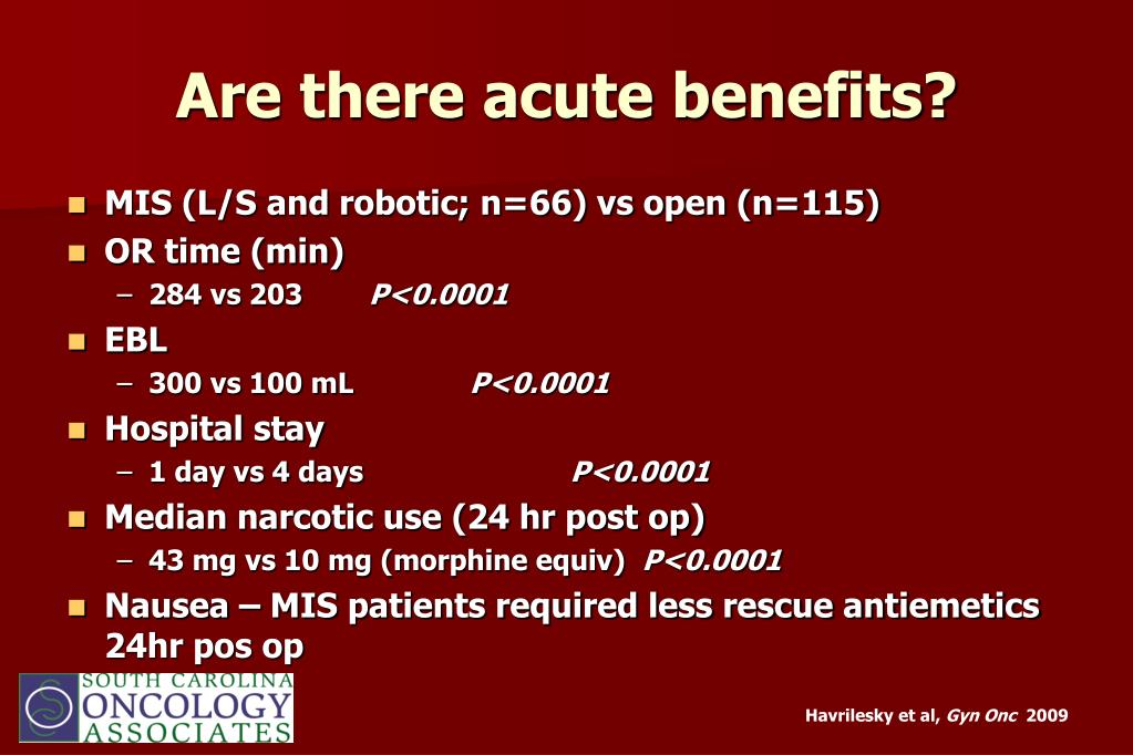 Are there acute benefits?