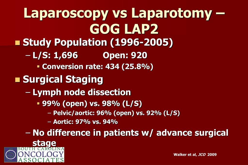 Laparoscopy vs Laparotomy – GOG LAP2