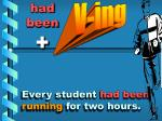 every student had been running for two hours