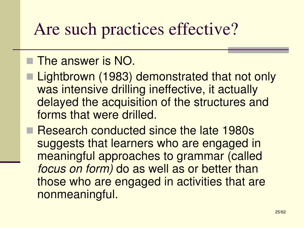 Are such practices effective?