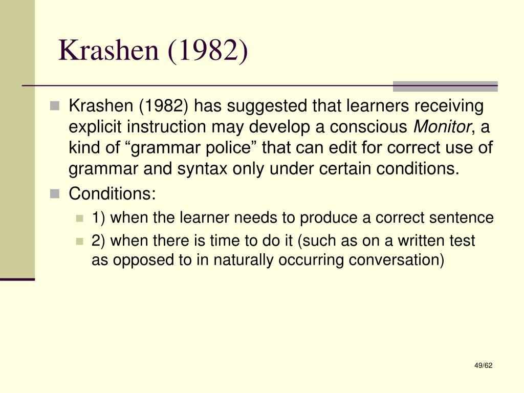 Krashen (1982)