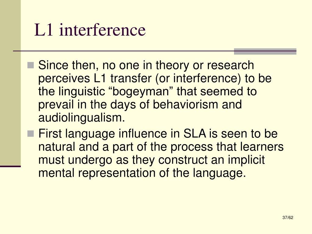 L1 interference