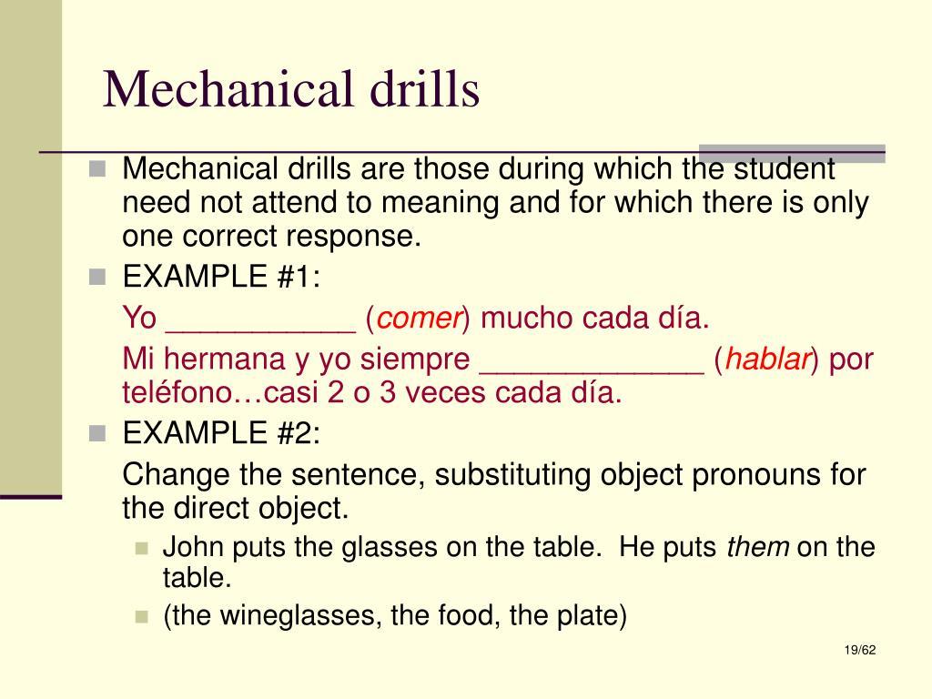 Mechanical drills