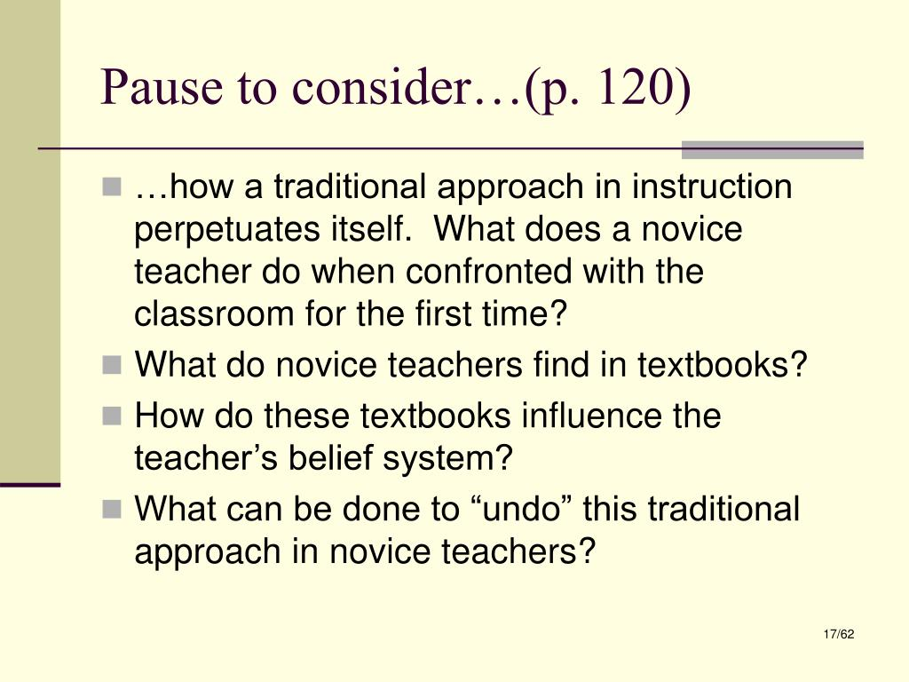 Pause to consider…(p. 120)