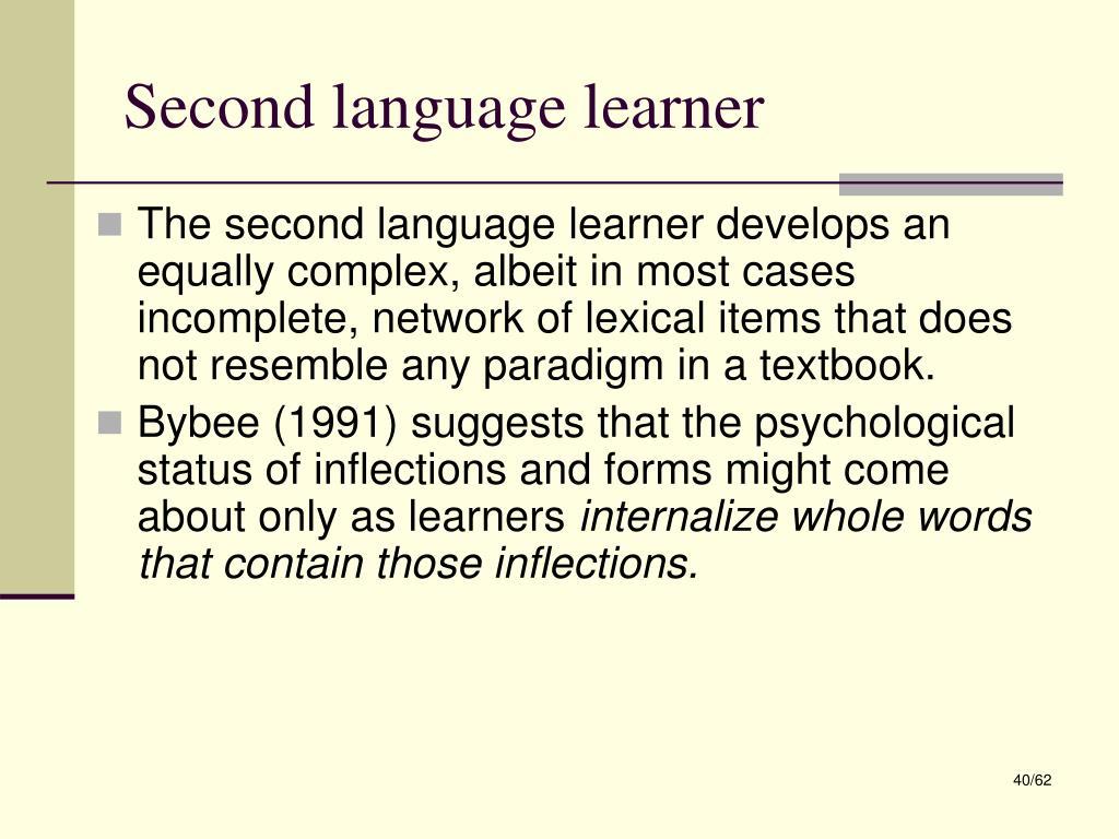 Second language learner