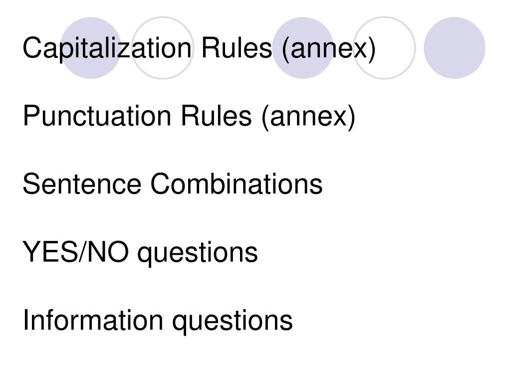 Capitalization Rules (annex)