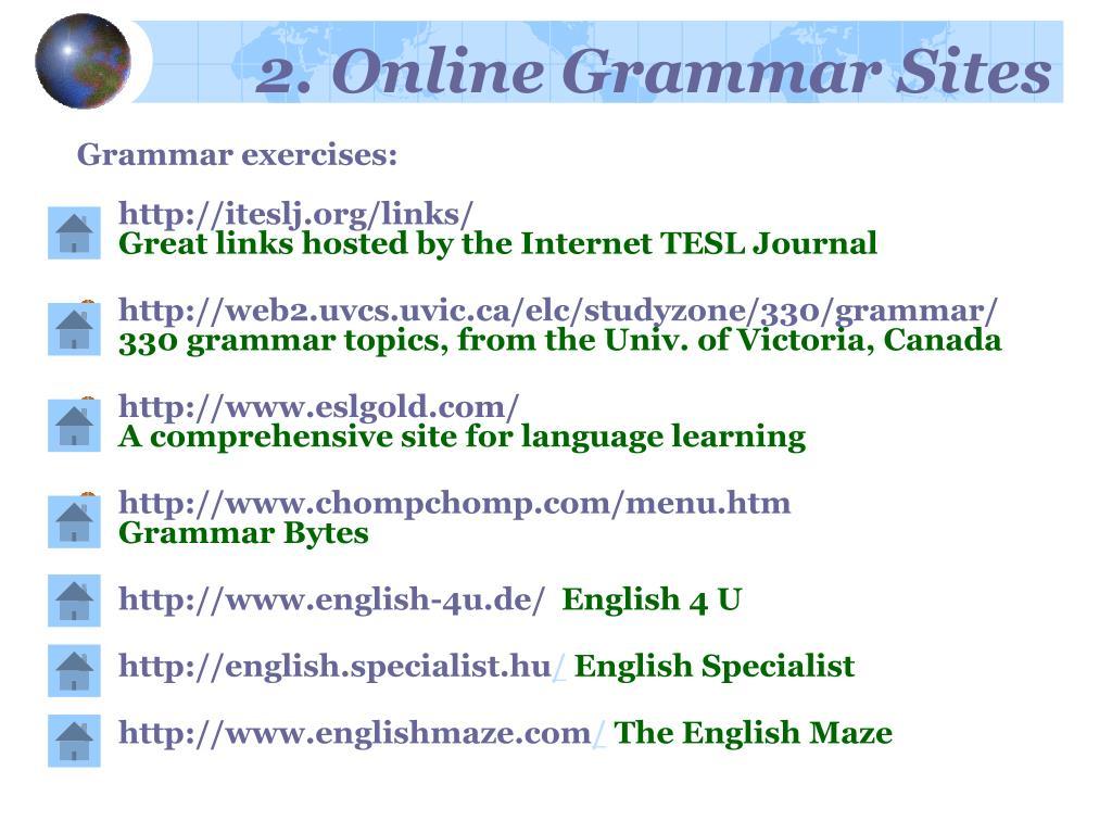 2. Online Grammar Sites