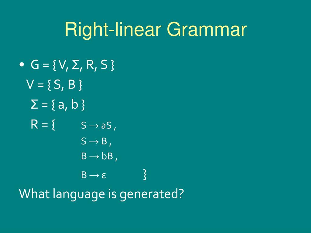 Right-linear Grammar