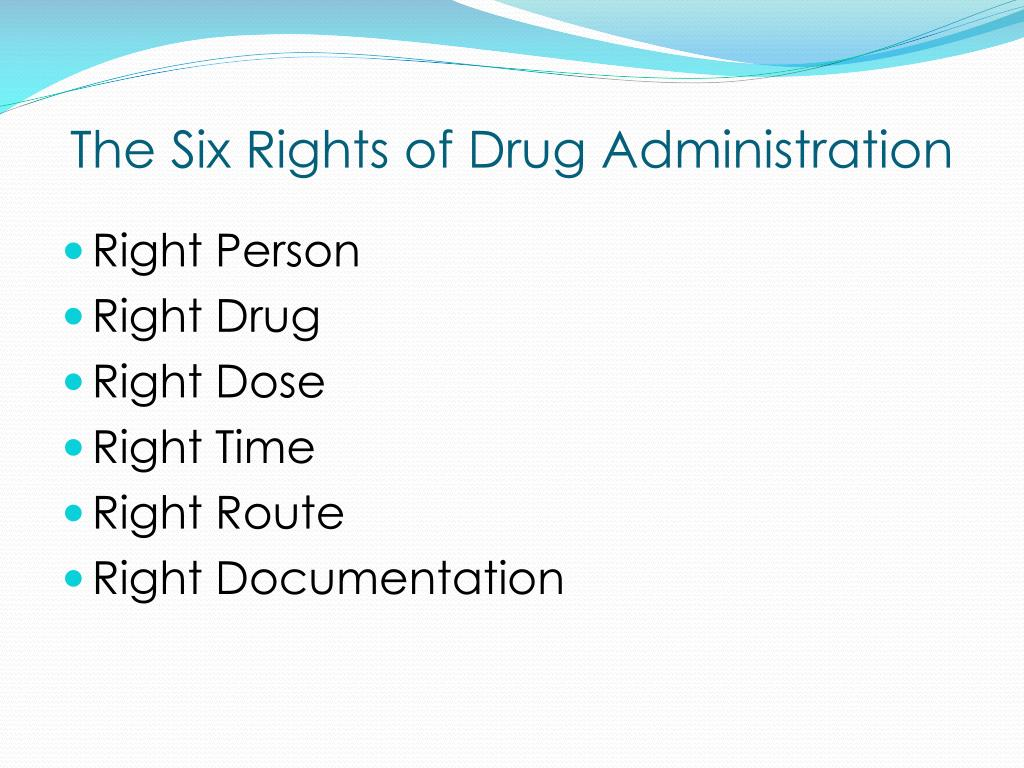 The Six Rights of Drug Administration