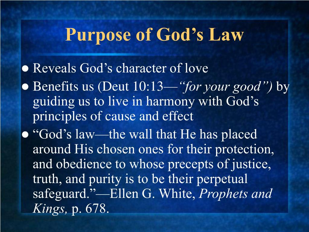 Purpose of God's Law