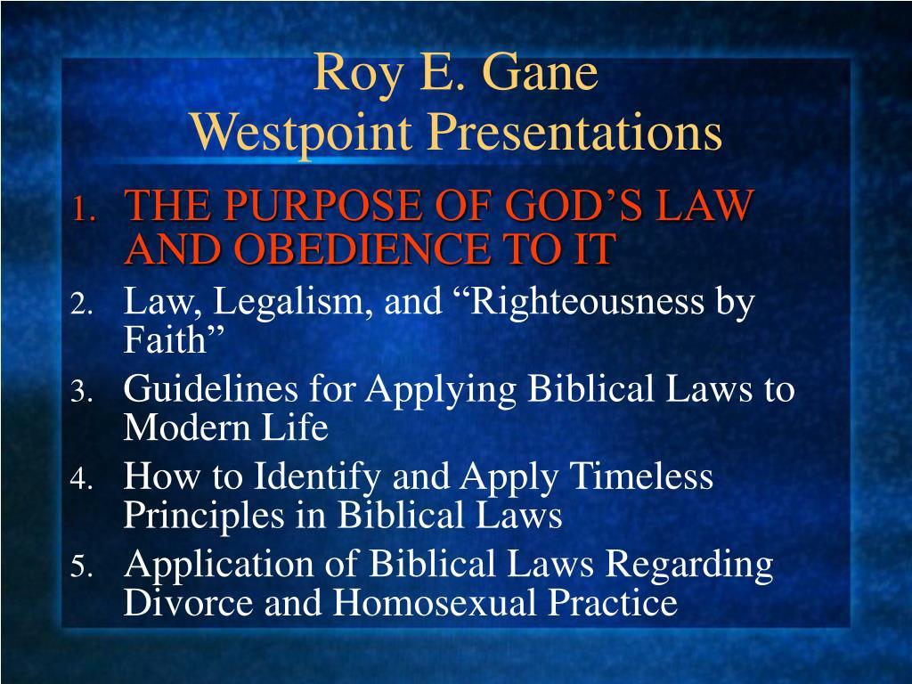 Roy E. Gane