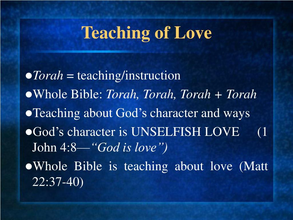 Teaching of Love