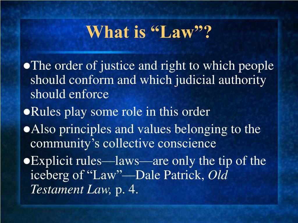 "What is ""Law""?"