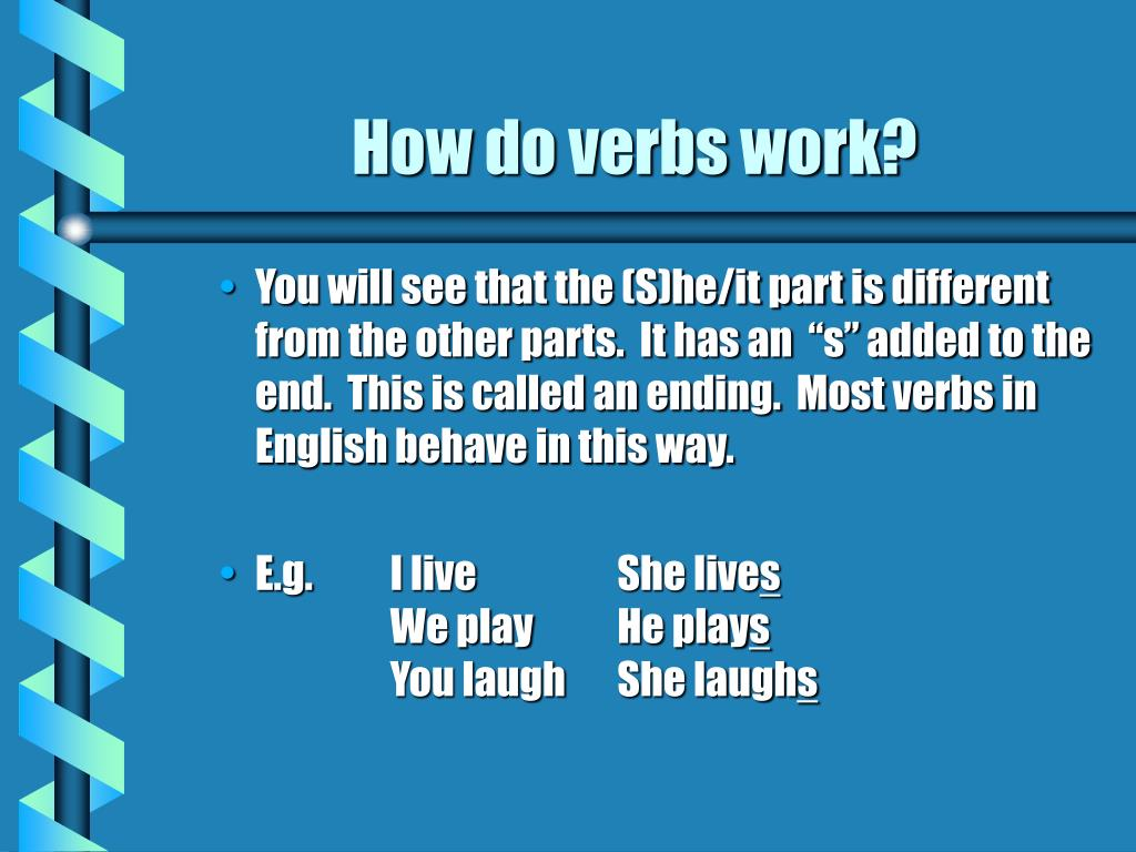 How do verbs work?