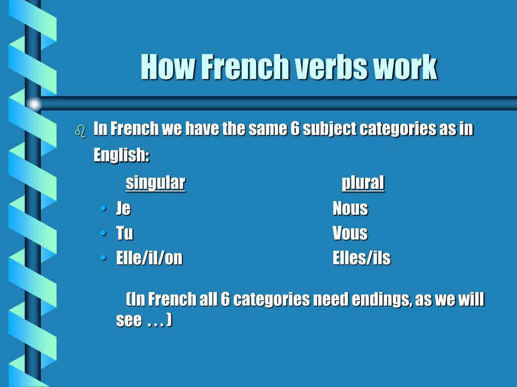 How French verbs work
