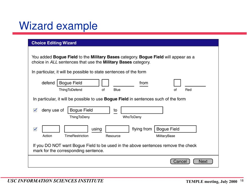 Wizard example