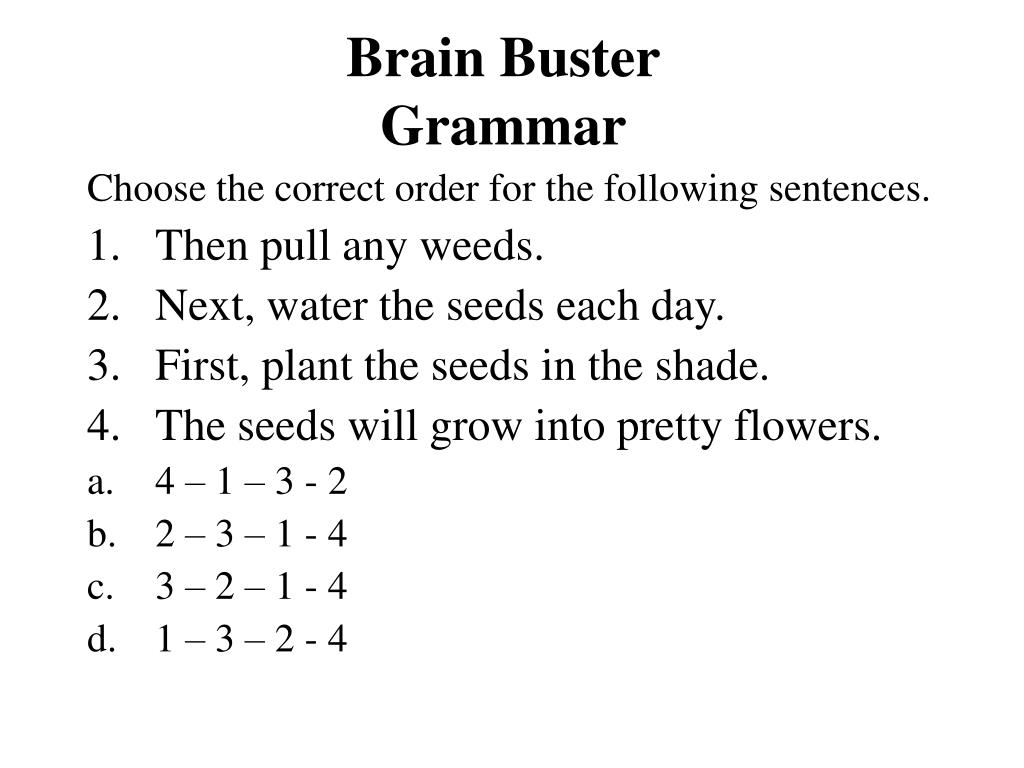 Brain Buster