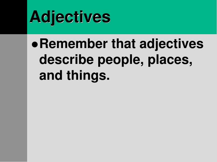 Adjectives2