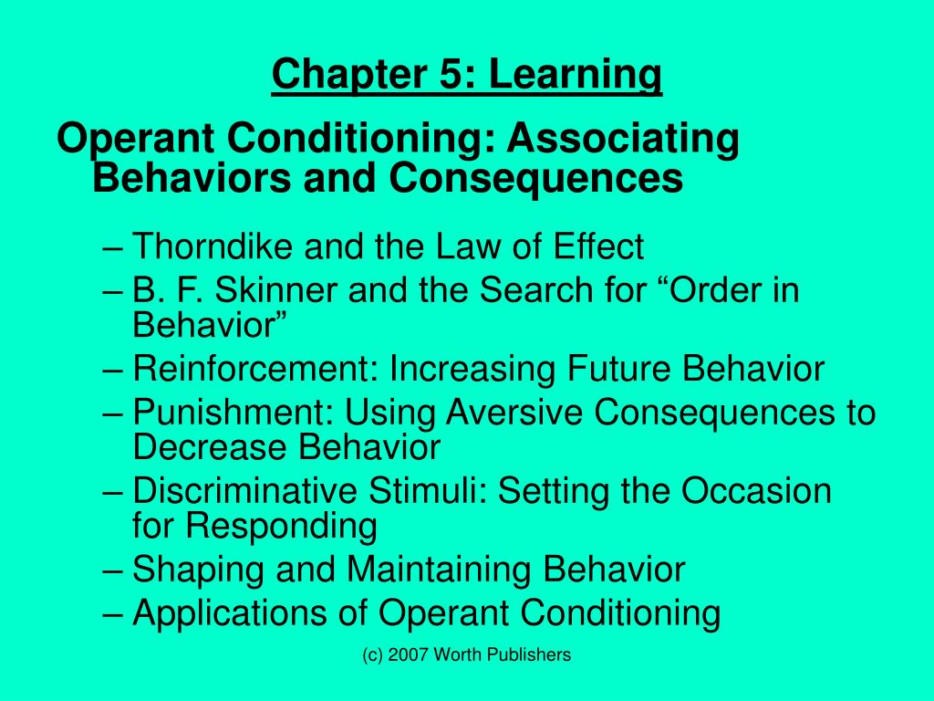 applications of operant conditioning ppt